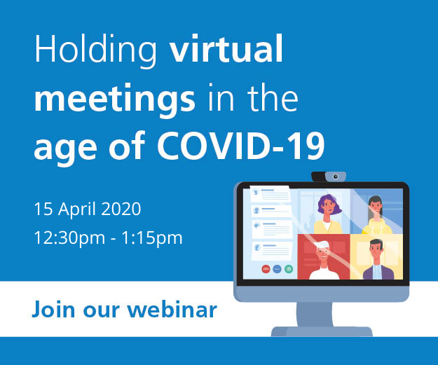 Webinar on 15th April at 12:30pm, Holding meetings in the age of COVID-19