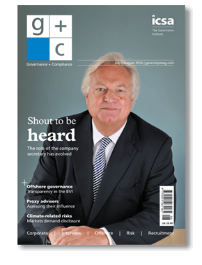 Governance and Compliance magazine