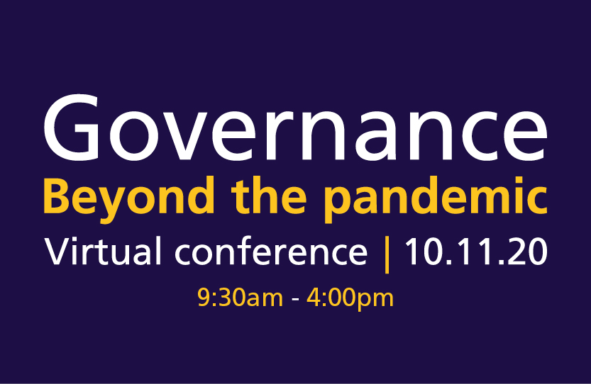 Governance beyond the pandemic, 10th November, 9:30am