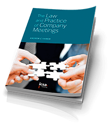 The Law and Practice of Company Meetings