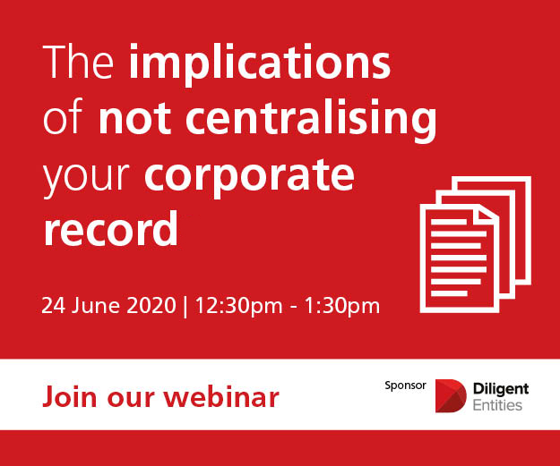 Webinar on 24th June at 12:30pm, The implications of not centralising your corporate record
