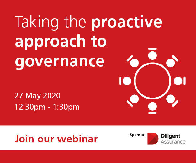 Webinar on 27th May at 12:30pm, Taking the proactive approach to governance