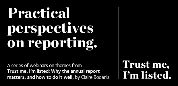 Trust me, I'm listed Practical perspectives on reporting
